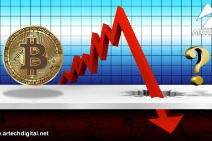 caída del bitcoin - Artech Digital