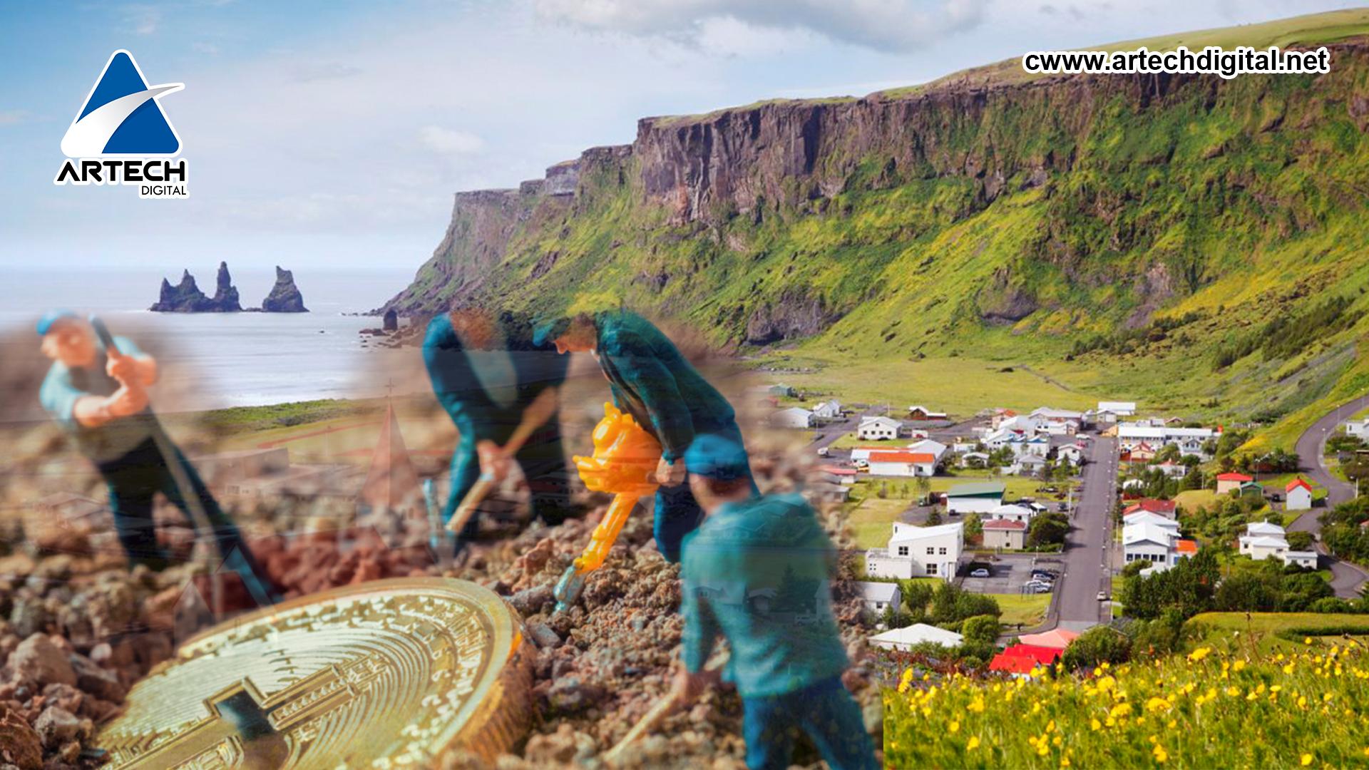 Islandia con el primer lugar con más minas de criptomonedas del mundo