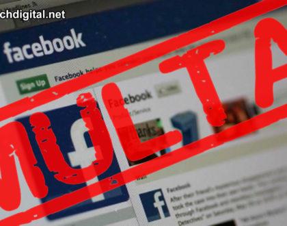 Facebook ha sido multada por no proteger los datos de sus usuarios