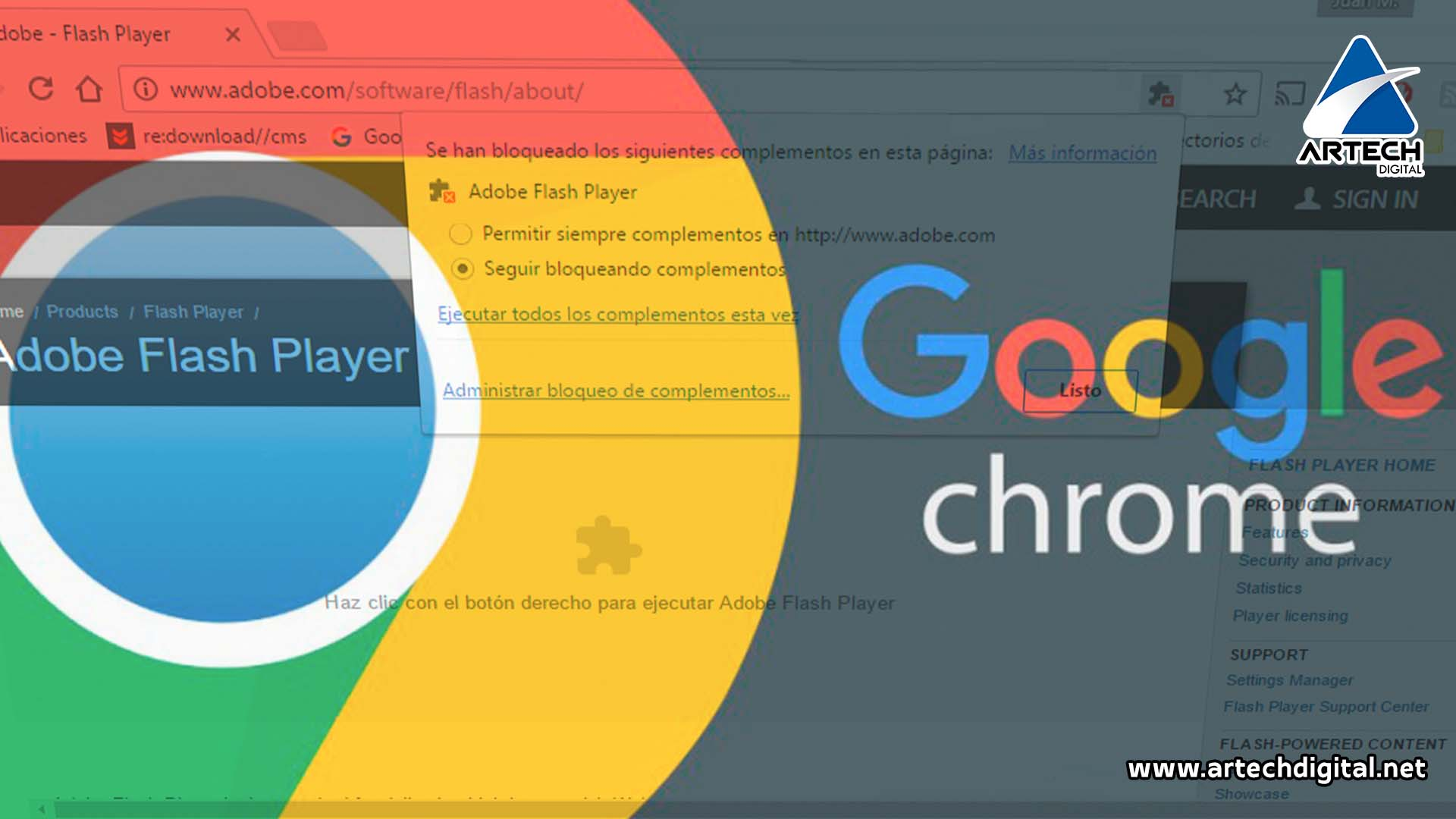 Flash en Chrome: Guerra entre buscadores y la publicidad Flash